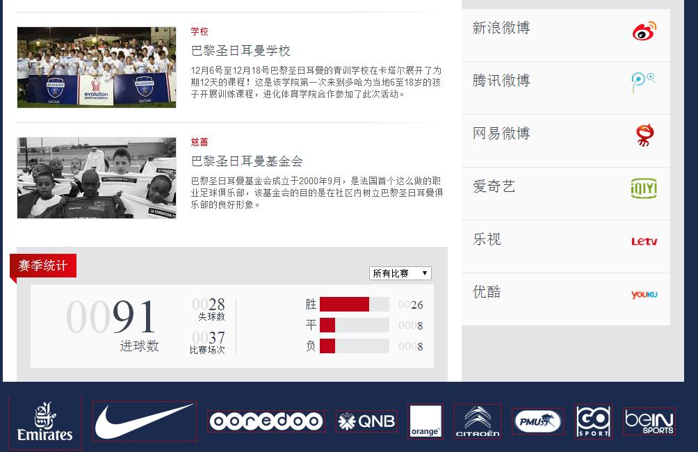PSG réseaux sociaux chinois