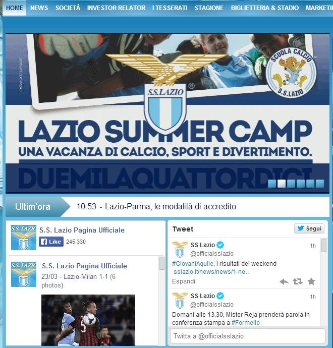 lazio compte twitter