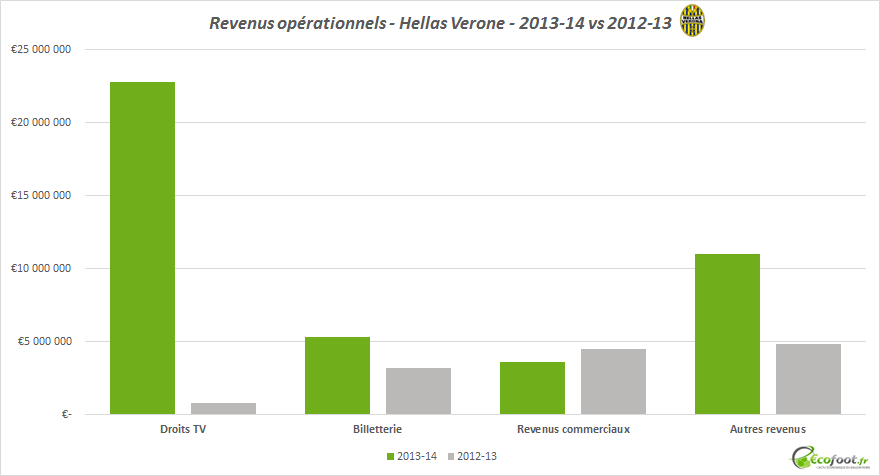 bilan financier hellas verone 2013-14