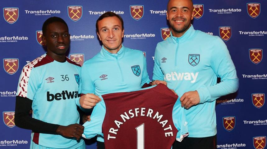 west ham united sponsoring transfermate