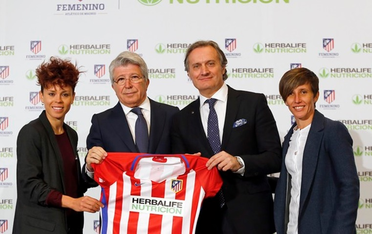 altetico de madrid sponsoring section féminine