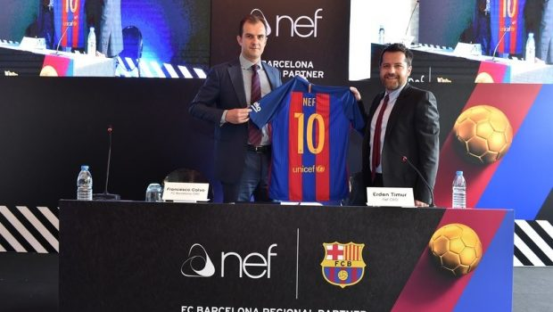 fc barcelone sponsoring nef