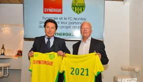 fc nantes sponsoring maillot synergie