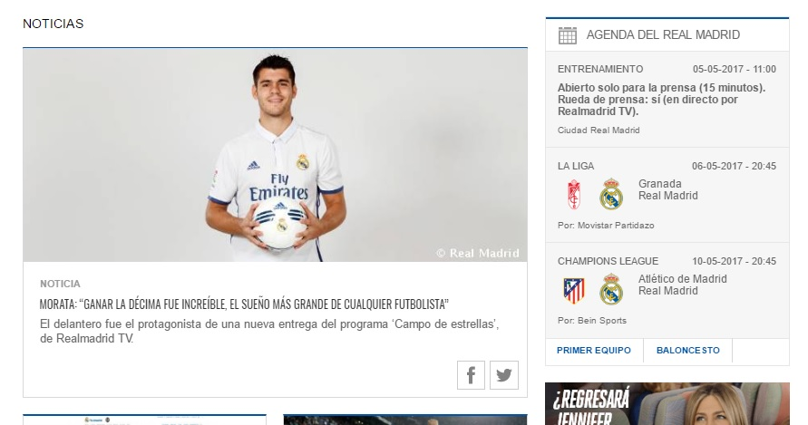 real madrid site officiel record audience