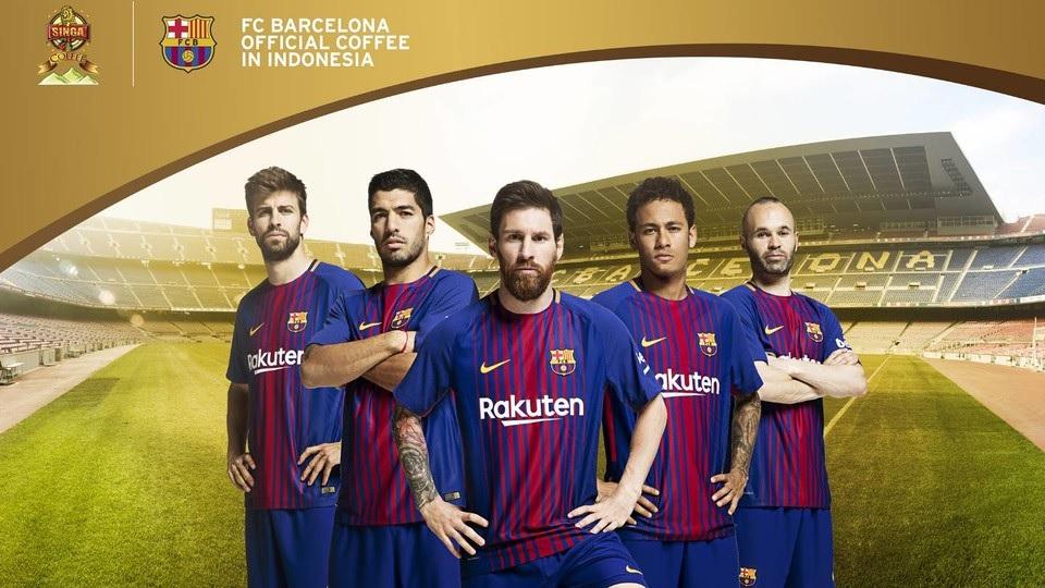 FC Barcelone sponsoring régional Indonésie