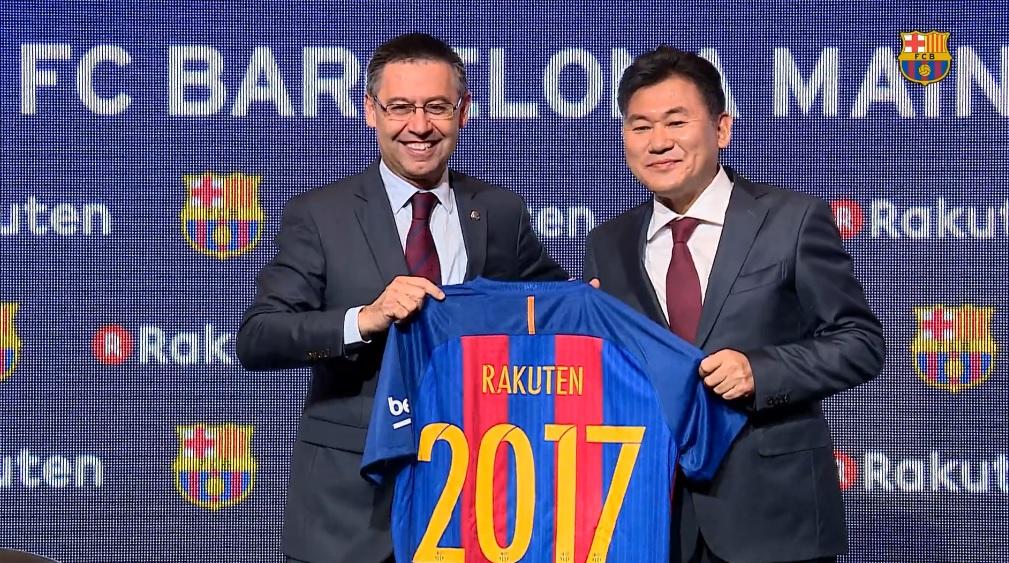 rakuten stratégie fc barcelone